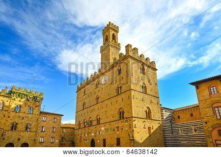 Volterra, Medieval Palace Palazzo Dei Priori, Pisa State, Tuscany, Italy