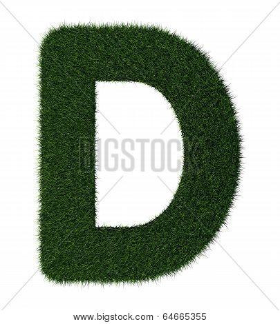 Grass alphabet-D
