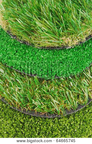 artificial astroturf grass samples