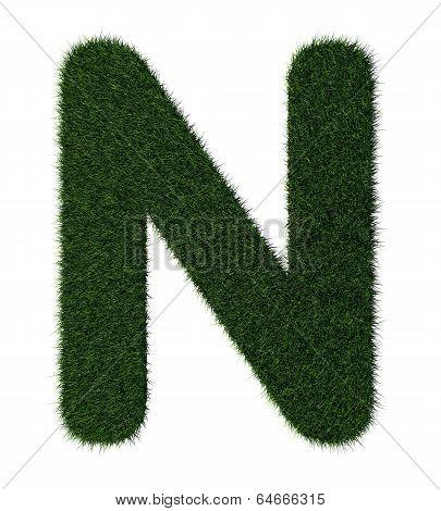 Grass alphabet-N