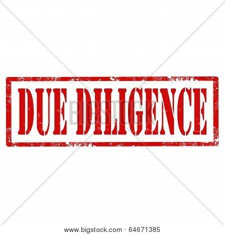 Due Diligence-stamp