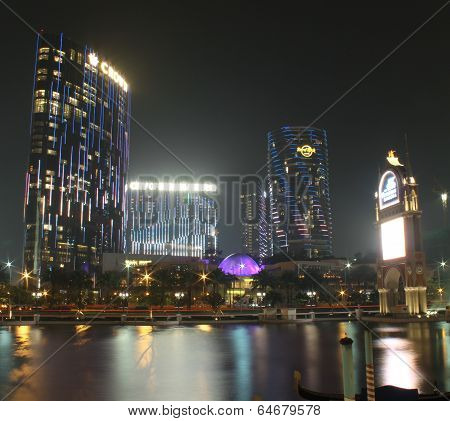 View With City Of Dreams Casino Building At Night