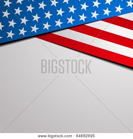 detailed illustration of a stylized patriotic stars and stripes background, eps 10 vector