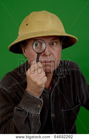 Explorer with Magnify glass