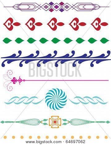 Decorative Borders Colourful Collection