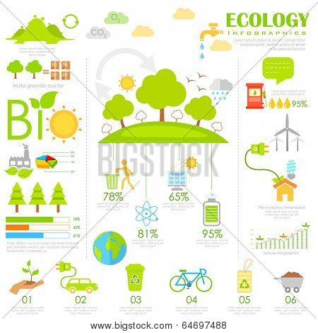 illustration of Ecology Infographics chart in flat style
