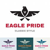 Eagle Pride - Logo in Classic Graphic Style poster