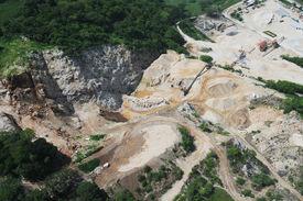 Aerial View Of Quarry Development