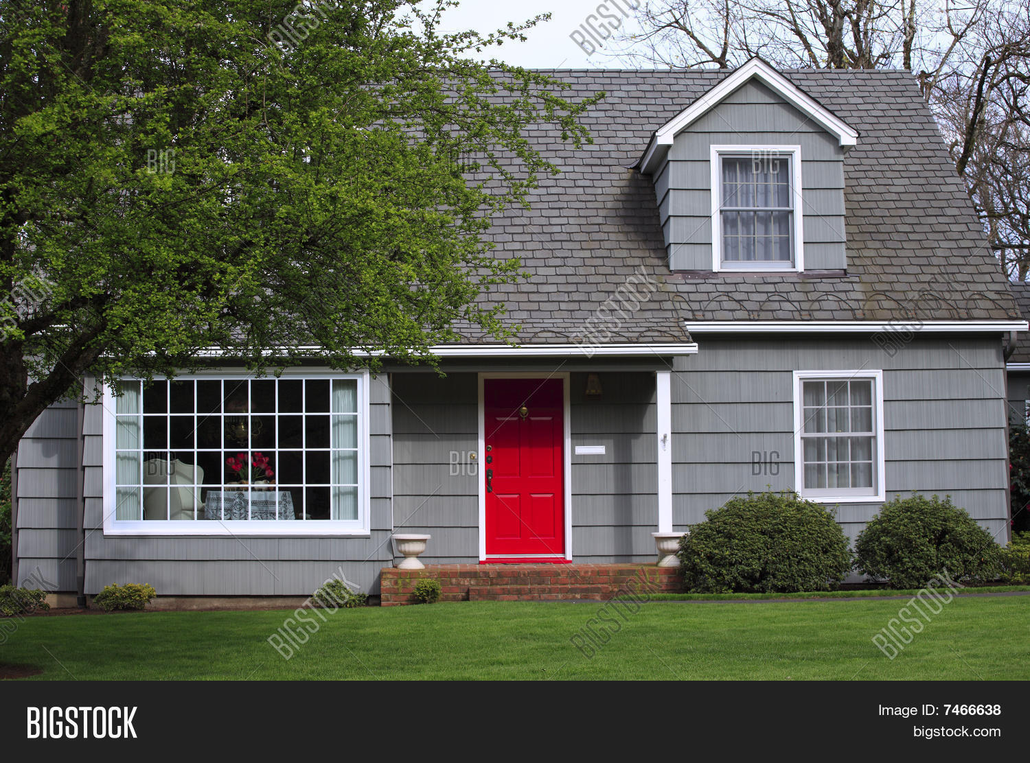 House With A Red Door Entrance