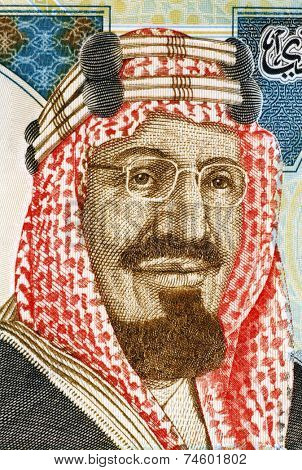 SAUDI ARABIA - CIRCA 2010: Abdullah of Saudi Arabia (born 1924) on 20 Riyals 2010 Banknote from Saudi Arabia. King of Saudi Arabia.
