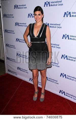 LOS ANGELES - OCT 23:  Jamie Lynn Sigler at the International Medical Corps 2014 Annual Awards Celebration at Beverly Wilshire Hotel on October 23, 2014 in Beverly Hills, CA