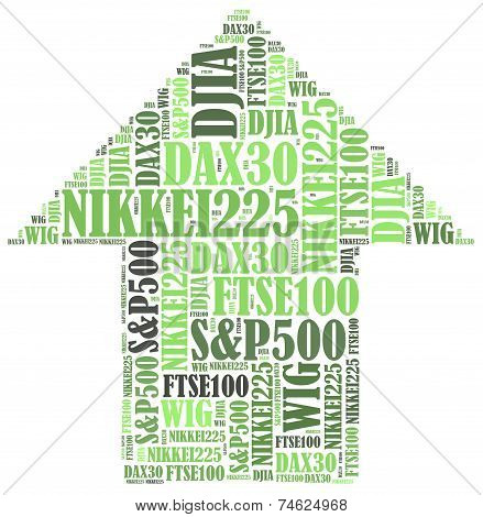 Stock market or New York Stock Exchange trading concept. Word cloud illustration. poster