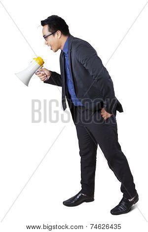 Businessperson Scream To Down