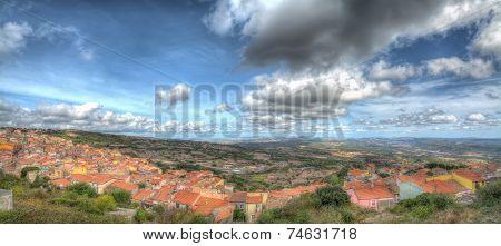 Panorama Of Villanova Monteleone