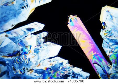 Micro Photo: Micro Crystals in polarized Light poster