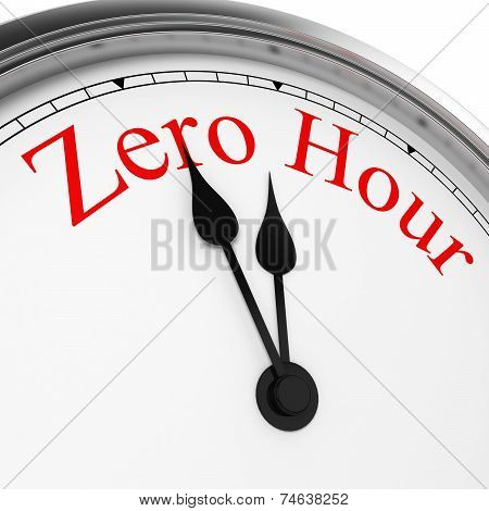 Zero Hour On A Clock