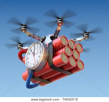 Drone with time bomb