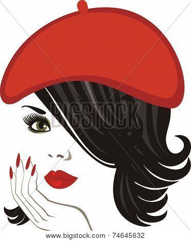 Beautiful Brunette In A Hat
