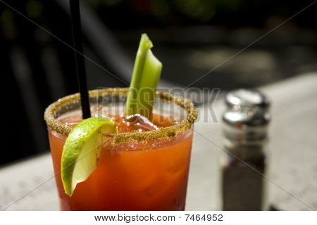 Fresh Caesar Or Bloody Mary Cocktail Drink