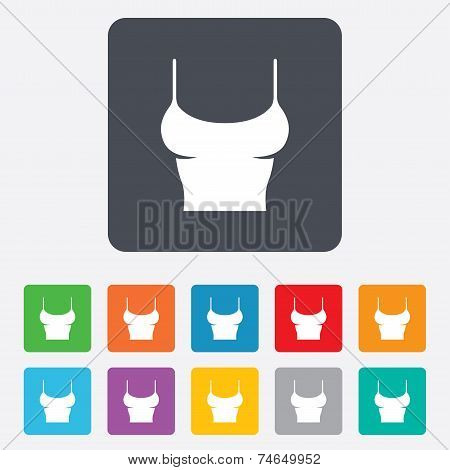 Women T-shirt sign icon
