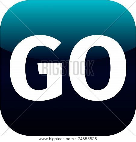 Blue Go Icon