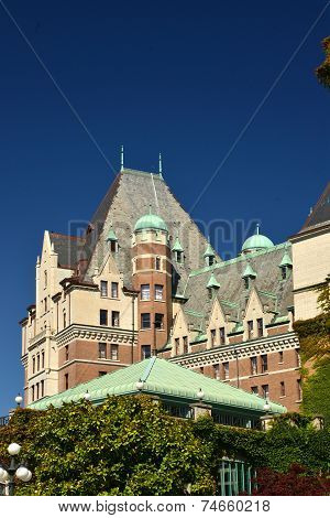 VICTORIA CANADA JULY 15: View of  a Heritage Building on July 15, 2014 at Victoria Waterfront