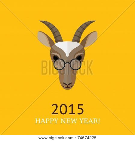 Vector Illustration Of Goat, Symbol Of 2015