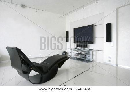 armchair in living room