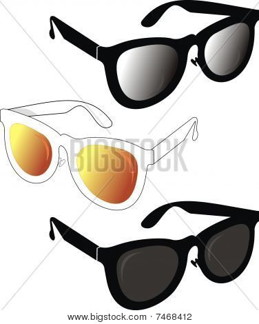 Fashionable sunglasses in the classical style of  2010 year.