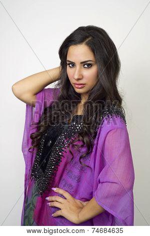 Arabian lady wearing Abaya