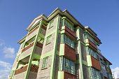 A Kenyan apartment building in Kikuyu near Nairobi Kenya. poster
