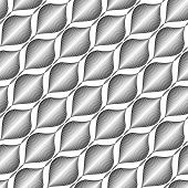 Design seamless monochrome zigzag wave pattern. Abstract stripy background. Vector art poster