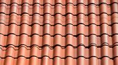 Clay tile roof being installed at home in Florida poster