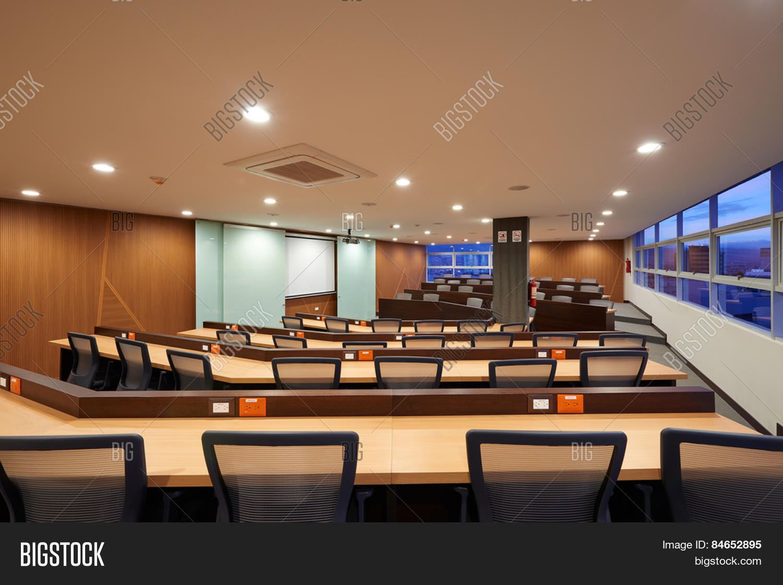 Big Empty Auditorium Image Photo Free Trial Bigstock - Big conference table