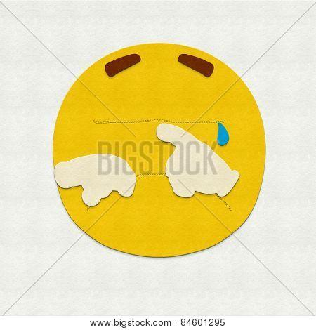 Felt Emoticon Crying