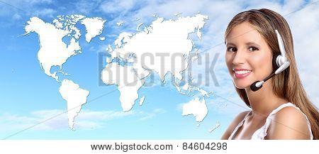 call center operator international contact