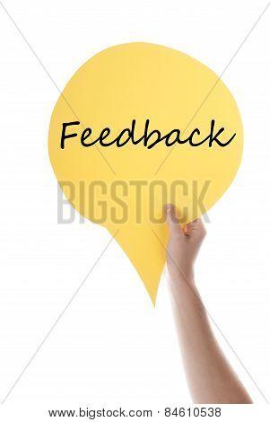 Yellow Speech Balloon With Feedback