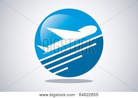 Vector Icon Airplane Travel Tourism Logo