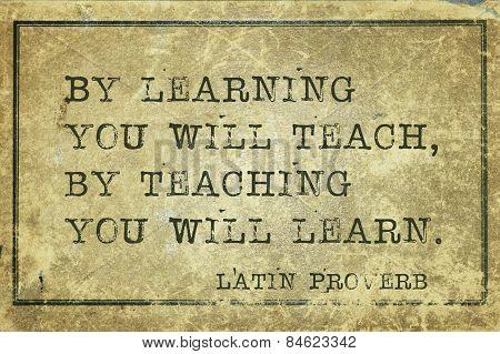 Teaching Learn Proverb