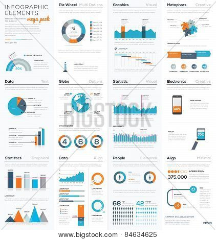 Mega colletion of infographic business vector elements EPS10