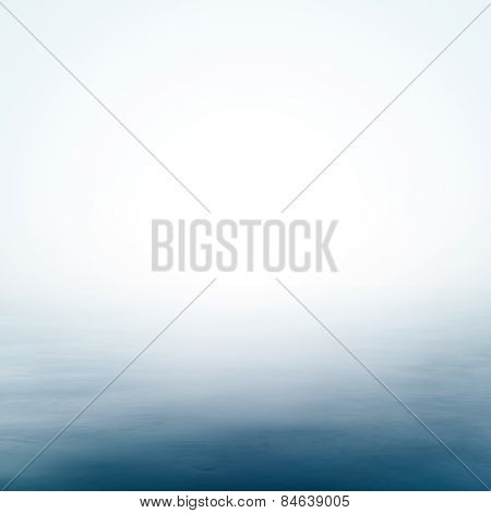 Calm Sea And Clear Sky Abstract Background