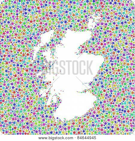 Isolated Map of Scotland - UK -
