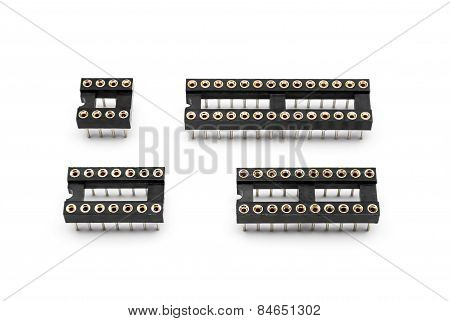 Round Hole Pin Ic Sockets