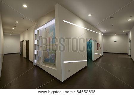 Big empty office hall