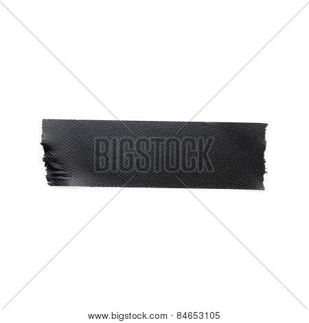 Black Matte Cloth Tape Isolated