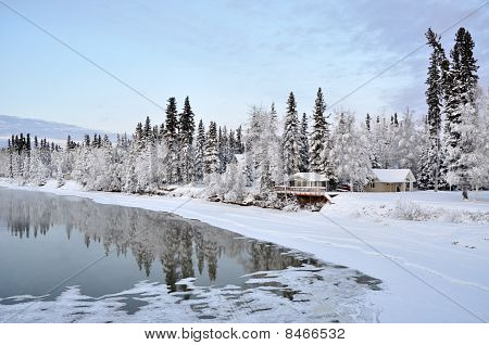 Winter River in Alaska