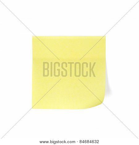 Yellow Notepad Memo Stick