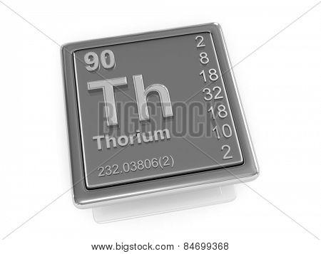 Thorium. Chemical element. 3d poster