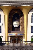 The Sultan's Al Alam Palace in Old Muscat. It's the residence of the Qaboos bin Said Al Said of Oman poster