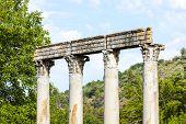 close up of Roman Temple, Riez, Provence-Alpes-Cote d''Azur, France poster